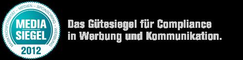 Media-Siegel, Header mit Claim: Das Gütesiege für Compliance in Werbung und Kommunikation